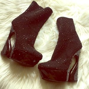 Chinese Laundry Disco crystal platform boots 6
